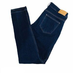 SQIN H&M Dark Denim Jeans Low Waist Slim Pants